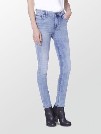 CALVIN KLEIN HIGH RISE SKINNY JEANS - BLUE EXPOSURE