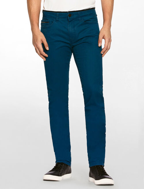 CALVIN KLEIN COTTON STRETCH DENIM PANTS