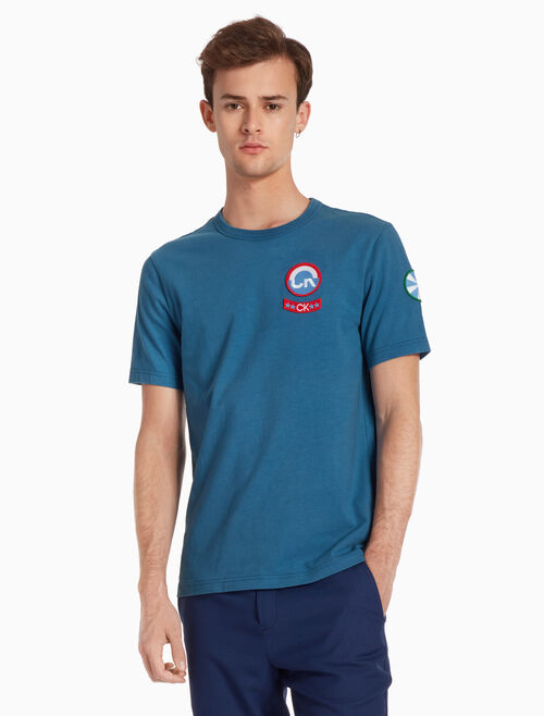 CALVIN KLEIN 배지 저지 티셔츠