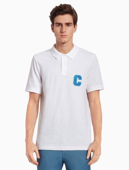 CALVIN KLEIN LOGO KNITTED 폴로 셔츠