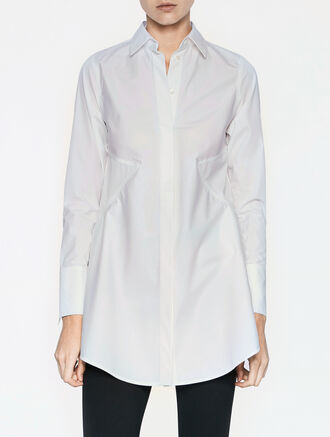 CALVIN KLEIN CLEAN COTTON LONG SLEEVES SEAMED TOP