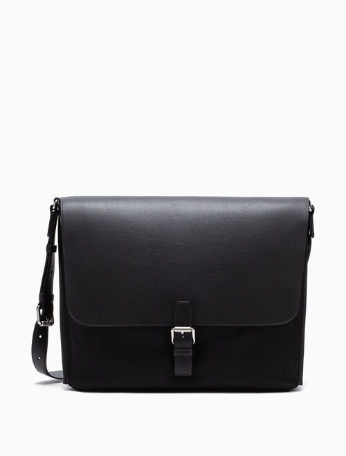 CALVIN KLEIN LEATHER MESSENGER BAG