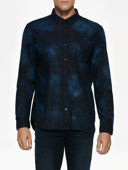 CALVIN KLEIN AMPLIFIED INDIGO URBAN SHIRT COSMI