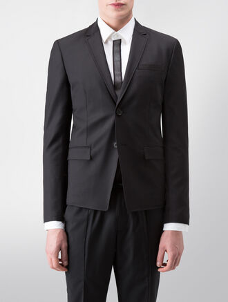 CALVIN KLEIN SHARKSKIN STRETCH BLAZER( JA-XTREME FIT )