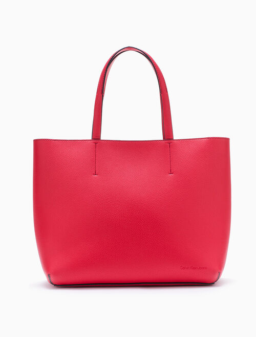 CALVIN KLEIN ULTRA LIGHT SHOPPING TOTE WITH ZIPPER