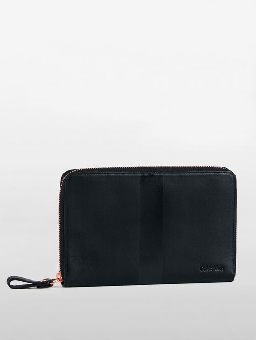 CALVIN KLEIN TAPE UTILITY TRAVEL WALLET