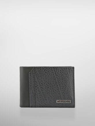 CALVIN KLEIN TEXTURED LEATHER WALLET