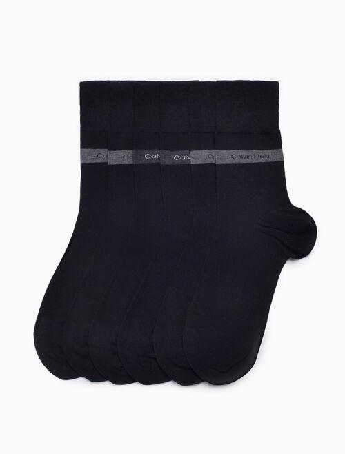 CALVIN KLEIN 3-PACK BAMBOO BAND LOGO DRESS SOCKS