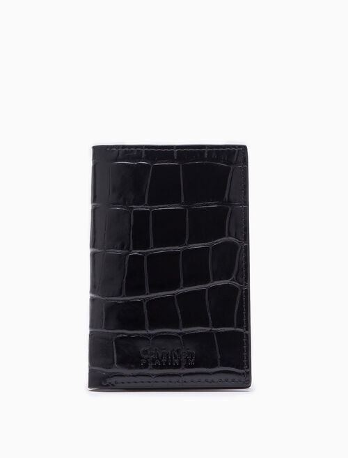 CALVIN KLEIN SLIM EMBOSSED CROCODILE CARD CASE