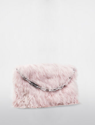 CALVIN KLEIN POUCHES LARGE ZIPPER POUCH WITH FUR