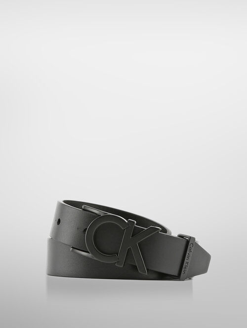 CALVIN KLEIN LEATHER LOGO BELT