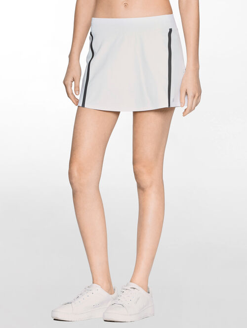 CALVIN KLEIN TENNIS SKIRT WITH BONDED DETAILS