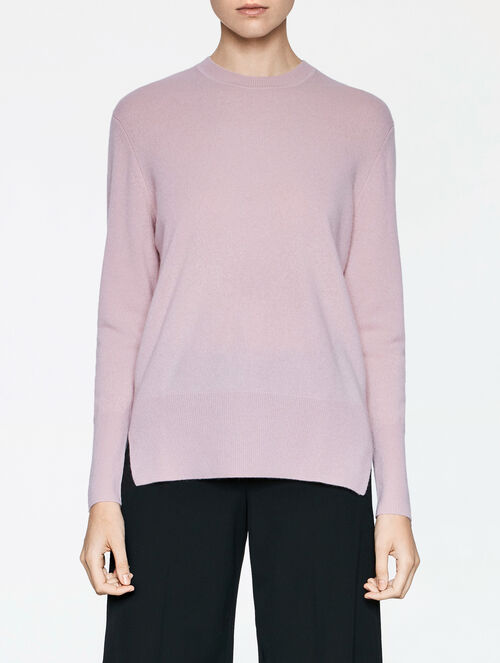 CALVIN KLEIN LUX FINE GAUGE CASHMERE LONG SLEEVES TOP
