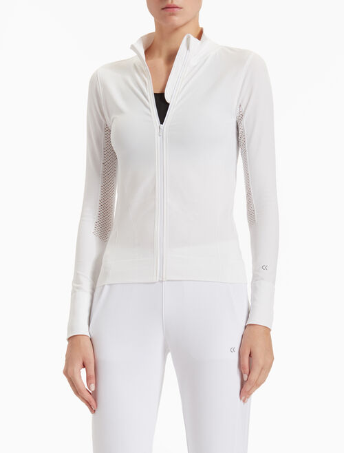 CALVIN KLEIN SEAMLESS JACKET WITH PERFORATED PANELS