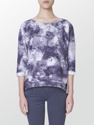 CALVIN KLEIN JADA ALL-OVER PRINTED SWEATSHIRT