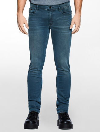 CALVIN KLEIN MID ASH BLUE SKINNY JEANS