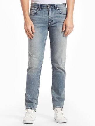CALVIN KLEIN DAVIS BLUE Distressed BODY JEANS