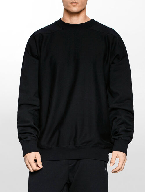 CALVIN KLEIN MEN - HYPER CURVE HOLO OVERSIZED CREW NECK SWEATER