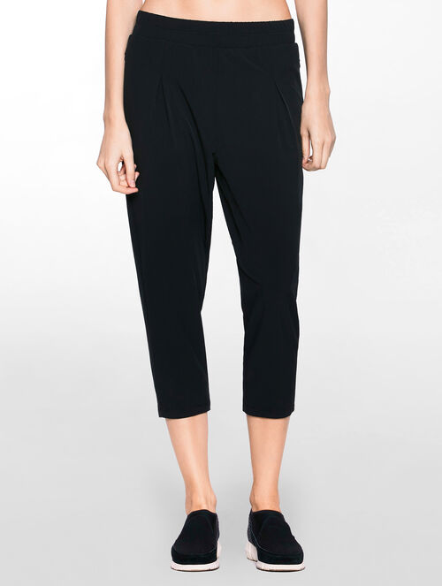 CALVIN KLEIN CK WAISTBAND PLEAT PANTS