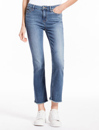 CALVIN KLEIN ISOLATION BLUE BOOT JEANS IN SLIM FIT