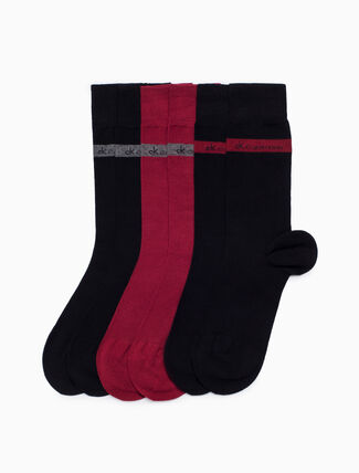 CALVIN KLEIN 3-PACK BAMBOO BAND LOGO DRESS SOCKS