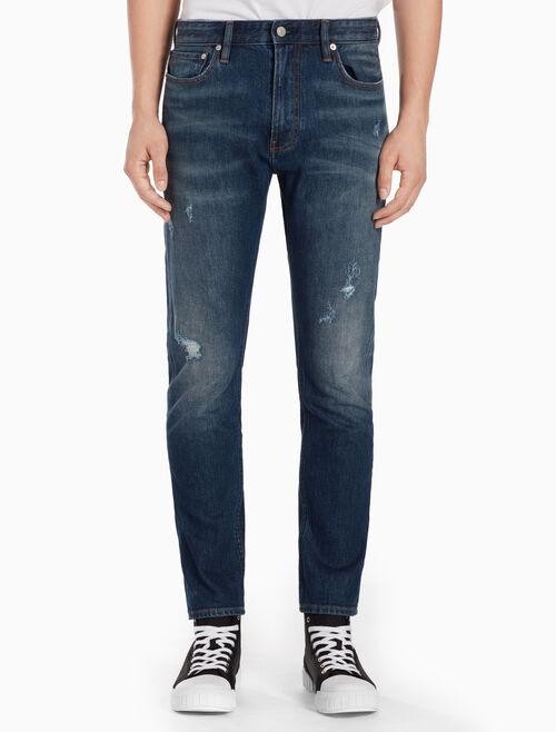 CALVIN KLEIN COOGEE BLUE 貼身直筒牛仔褲