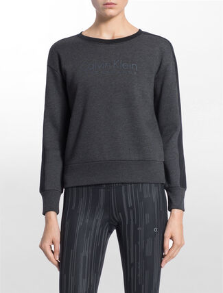 CALVIN KLEIN LOGO SWEAT PULLOVER WITH LONG SLEEVES