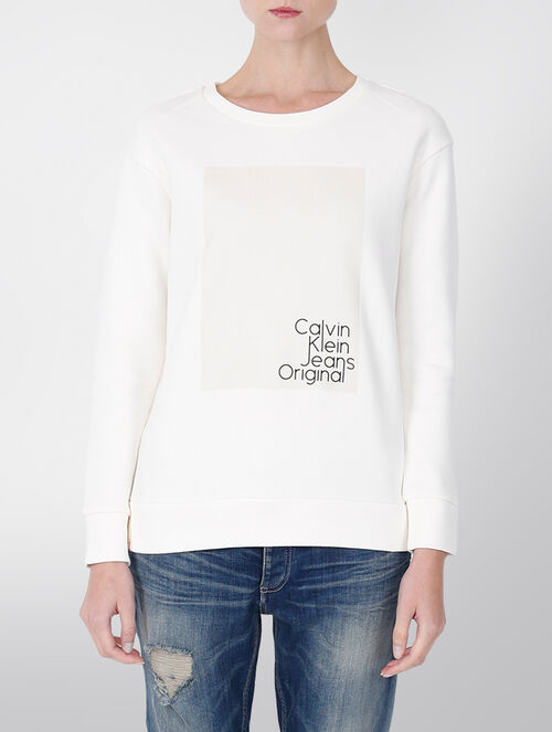 CALVIN KLEIN SUPRIMA COTTON CREW NECK SWEATSHIRT