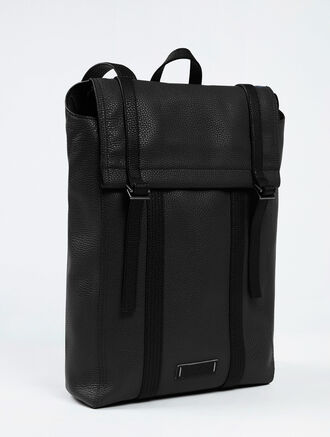 CALVIN KLEIN SPORT LUX LEATHER BACKPACK