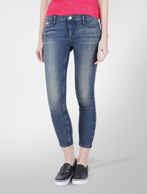 CALVIN KLEIN IROQUOIS BLUE RISE SKINNY JEANS