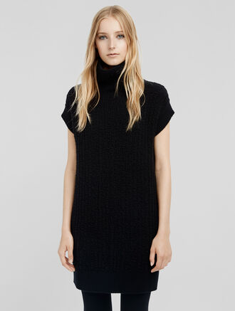 CALVIN KLEIN CASHMERE BOUCLE SLEEVELESS TUNIC