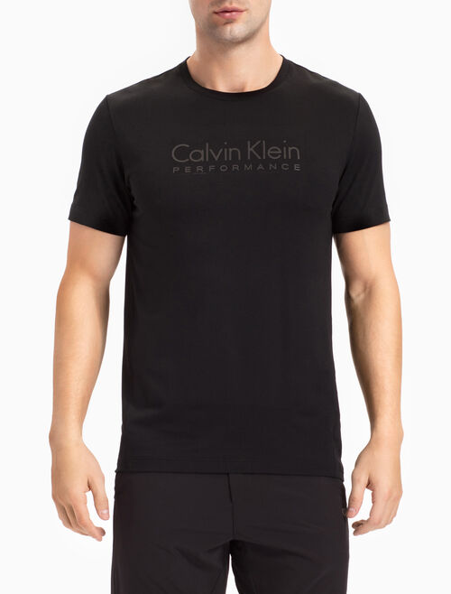 CALVIN KLEIN LOGO TEE WITH SHORT SLEEVES AND RIBBED NECK