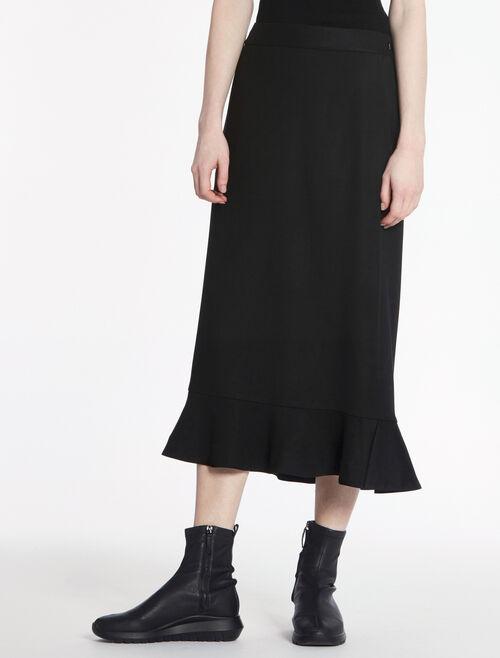 CALVIN KLEIN ソフトストレッチロングスカート