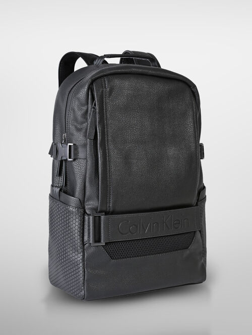 CALVIN KLEIN LOGO STRAP CAMPUS BACKPACK