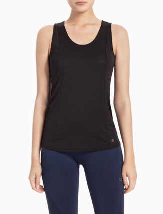 CALVIN KLEIN MESH TANK TOP WITH HOLLOW BACK