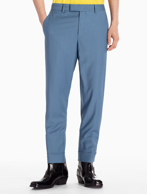 CALVIN KLEIN WOVEN TURN UP PANTS