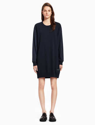 CALVIN KLEIN FABRIX MIX KNIT DRESS