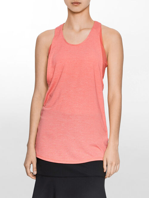 CALVIN KLEIN TANK TOP WITH SPORTS BRA ATTACHED