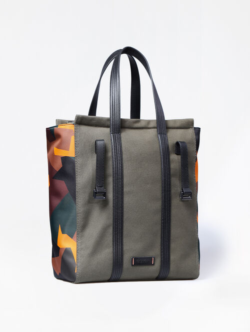 CALVIN KLEIN SPORTS LUXE CANVAS NORTH SOUTH TOTE