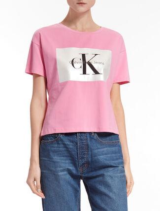 CALVIN KLEIN TECARA MONOGRAM 로고 티셔츠