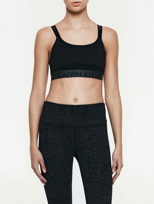 CALVIN KLEIN adjustable straps bra top with removable cup