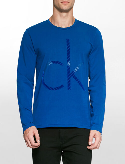 CALVIN KLEIN MIX TECH CK LOGO TEE