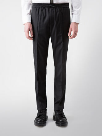 CALVIN KLEIN REFINED WOOL CASHMERE DRAWSTRING PANTS( PRESTON FIT )