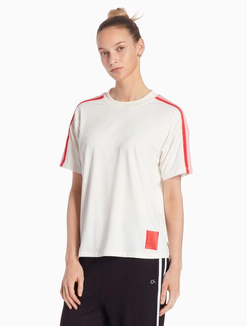 CALVIN KLEIN RE-EMERGE 컬러 테이프 티셔츠