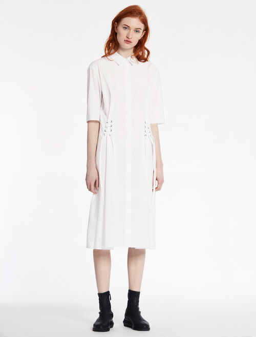 CALVIN KLEIN SOFT DENSE POPLIN SHORT SLEEVES DRESS