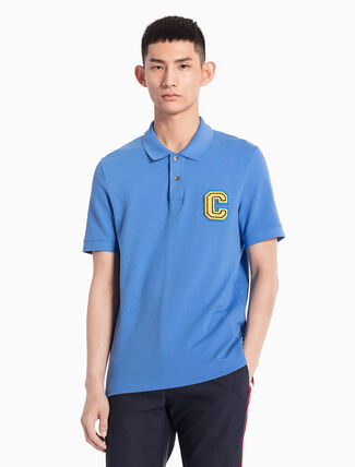 CALVIN KLEIN LOGO KNITTED POLO SHIRT