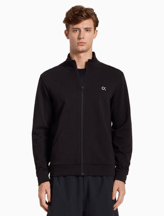 CALVIN KLEIN BACK LOGO SWEAT JACKET