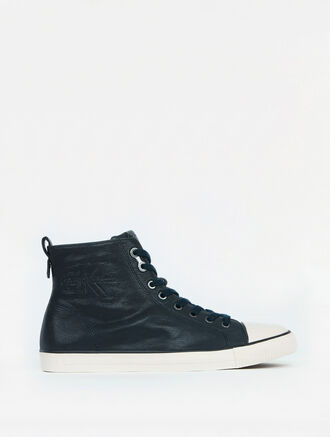 CALVIN KLEIN ARON HIGH TOP LEATHER SNEAKER