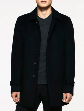 CALVIN KLEIN DENSE FELT WOOL TAILORED COAT
