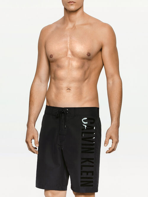CALVIN KLEIN BLACK EMBOSSED BOARDSHORTS